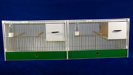 JH Double Breeding Cage - Budgie,parakeets and lovebirds 153x40x40